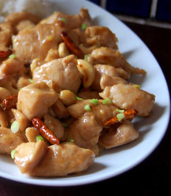Kung Pao Chickenis a Sichuan classic made with tender chunks of chicken, peppers and peanuts glazed with a tongue-tinglingly spicy sauce.