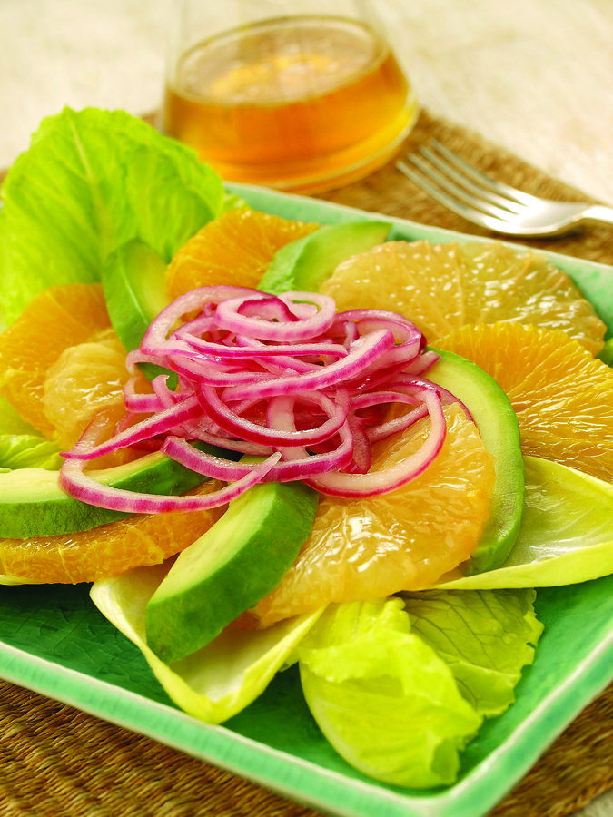 Avocado Citrus Salad with Marinated Onions - STL Cooks