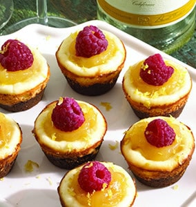 Mini Moscato Cheesecakes