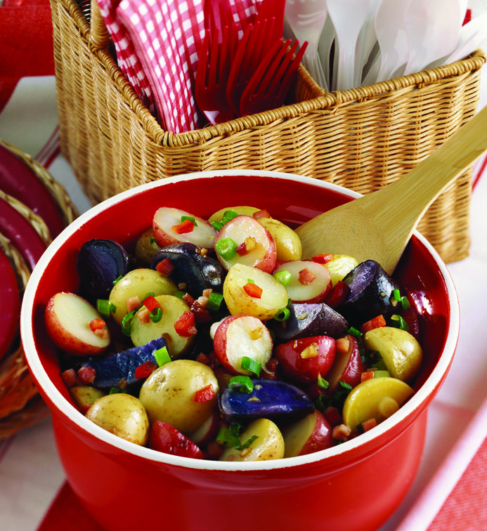 Red White and Blue Potato Salad - STL Cooks