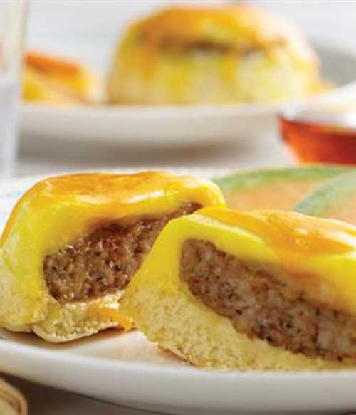 These Upside-Down Breakfast Stacks make for the perfect breakfast. Sausage baked into a pancake, and it couldn't be an easier!