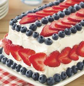 Red White and Blue Ice Cream Cake