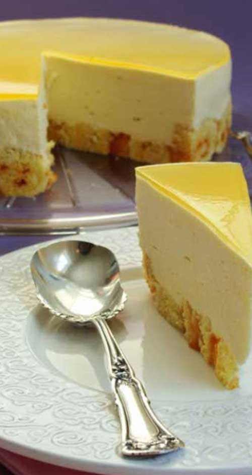 This Mango Mousse Cake will rock your world. If you're looking for a summery tropical treat, you simply must give this a try.