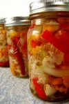 These spicy Mexican Pickled Vegetablesare like aMexicanversion of Italian giardiniera and are delicious with tacos and as a condiment for any sandwich or burger.