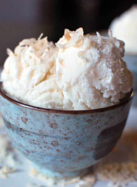 Plain old coconut ice cream sounds good, buttoasted coconut gelato jumps to a whole new level of deliciousness.