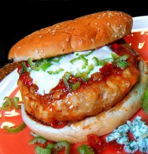 Fiery Buffalo Chicken Burgers | STL Cooks