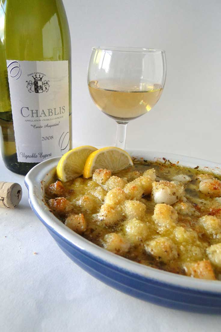 The delicate crunch of the crispy top of thisBaked Scallop Gratin contrasts perfectly with the mild, tender scallop while the garlic and lemon juice provide a delightful flavor spike.