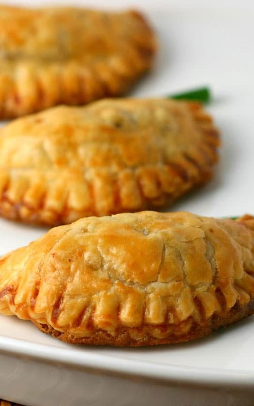 These Filipino Beef Empanadas are encased in a flaky pastry dough and filled with a simple filling of beef and potatoes. They are normally deep-fried, but they can be baked as well.