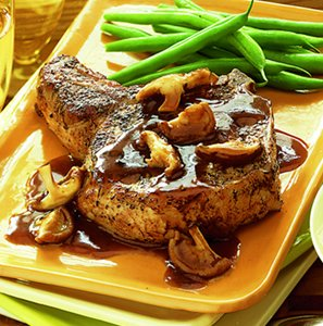 sage_rubbed_pork_chops_with_wild_mushroom_sauce