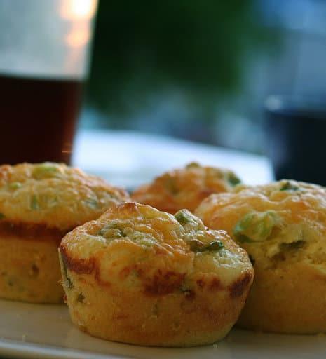 Cheddar Corn Cakes With Green Onion Sour Cream Recipes — Dishmaps
