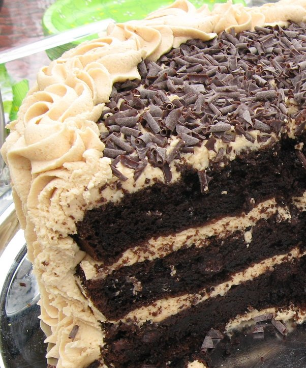 Cake With Milk Chocolate-Peanut Butter Frosting And Peanut Butter ...