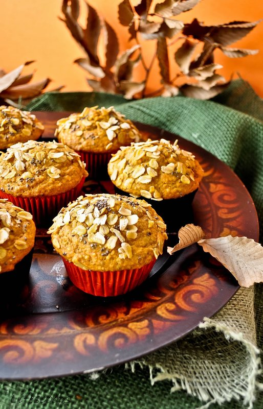 Pumpkin_Oats_Muffins_with_Cranberries_and_Chia_Seeds