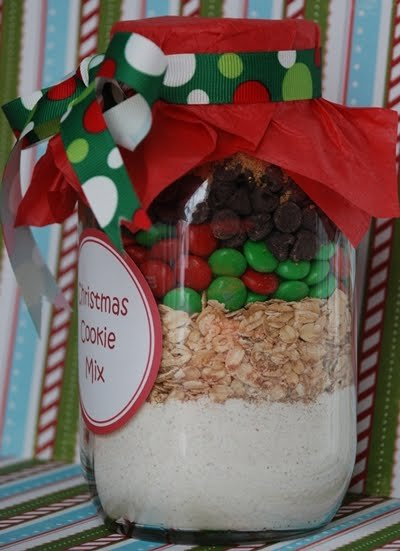 Recipe for Christmas Cookie Mix in a Jar