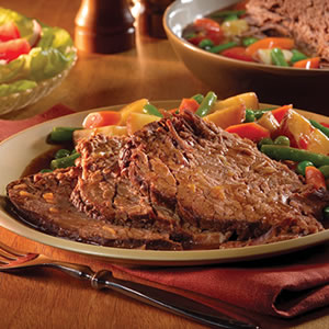Recipe for Slow Cooker Savory Pot Roast