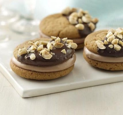 Recipe for Chocolate Hazelnut Peanut Butter Sandwich Cookies