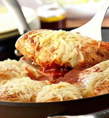 Easy One Skillet Chicken Parmesan - STL Cooks