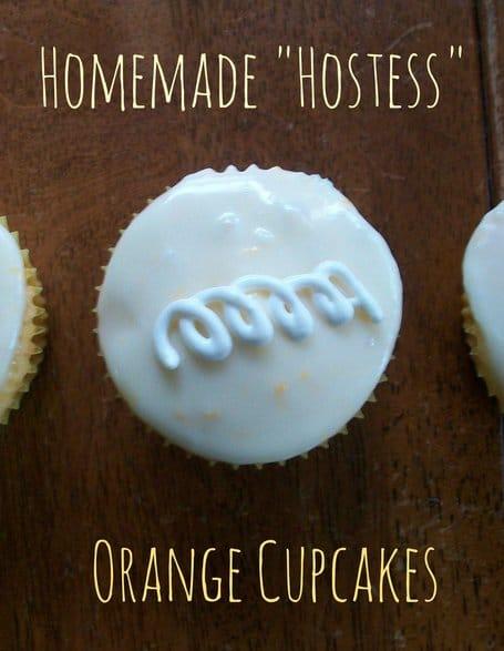 Recipe for Homemade Hostess Orange Cupcakes