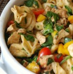 This Balsamic Chicken Spinach and Tomato Pasta Salad is a great dish which has been eaten in my house as a side dish and as a main dish. I hope you find it as delicious as my family does!