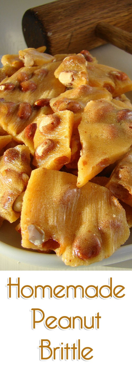 Peanut brittle is a delicious and fun candy and is very easy to make by melting sugar with your favorite nuts.