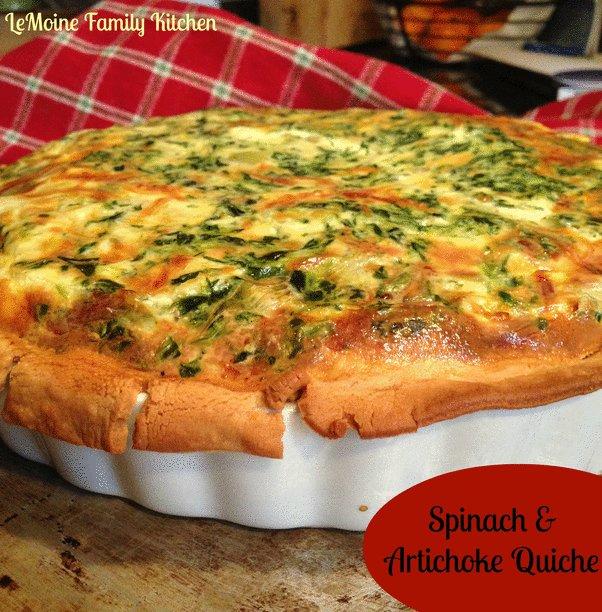 Recipe for Spinach and Artichoke Quiche