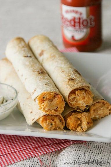 Recipe for Baked Buffalo Chicken Taquitos