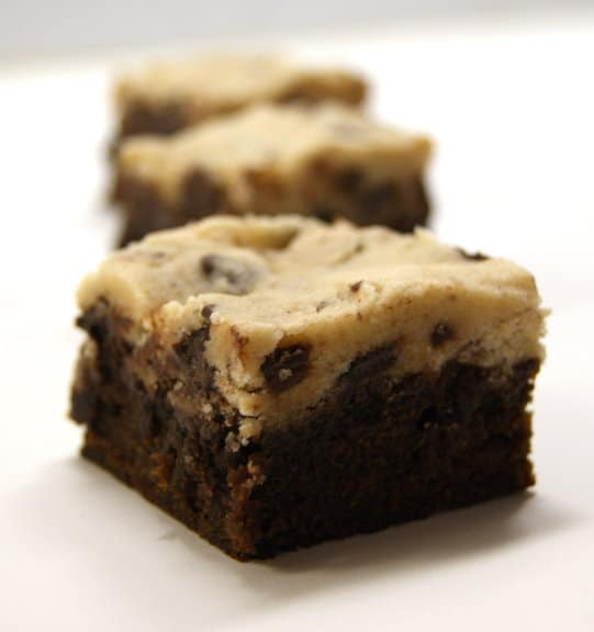 Recipe for Cookie Dough Topped Brownies