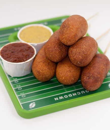 Recipe for Spicy Chicken Corn Dogs with Homemade Chili Sauce