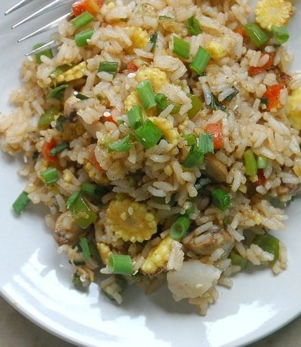 Recipe for Quick Veggie Fried Rice