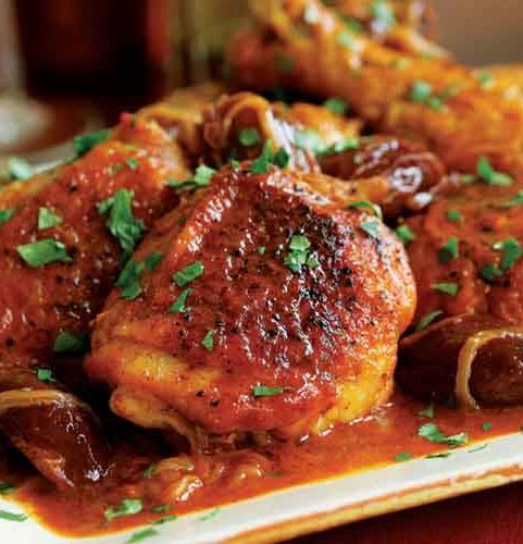 Recipe for Braised Chicken with Chiles
