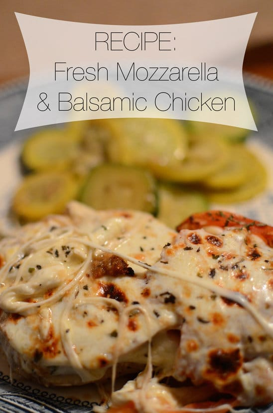 We had this Fresh Mozzarella and Balsamic Chicken the other night, and it ended up being SO INSANELY DELICIOUS. It was really easy and is absolutely a new house favorite.