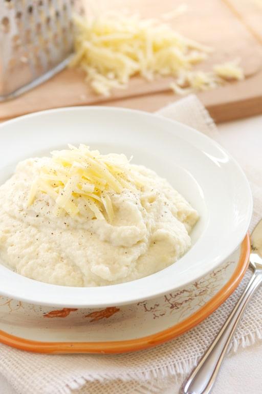 Recipe for Cheesy Mashed Cauliflower