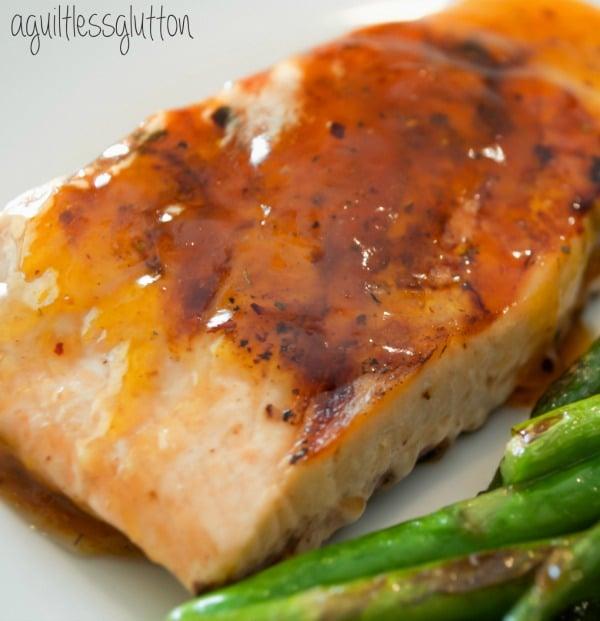 Recipe for Smokey Apricot Glazed Salmon
