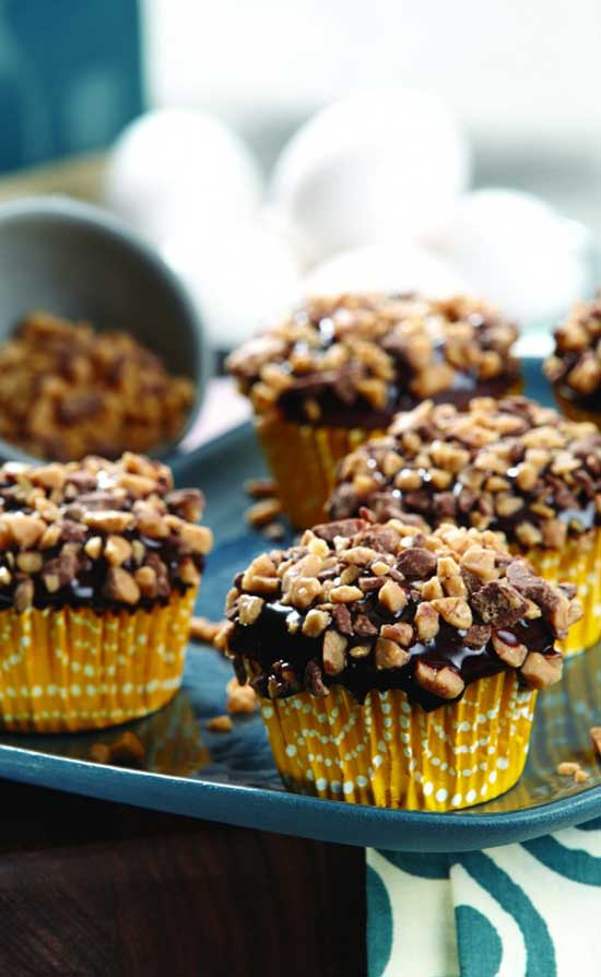 Recipe for Coffee Toffee Heath Cupcakes - Whoever the first person was to combine toffee and coffee, is a genius; even if it was just because it rhymed.