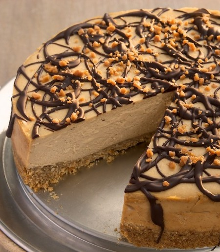 Chocolate Drizzled Peanut Butter Cheesecake | STL Cooks