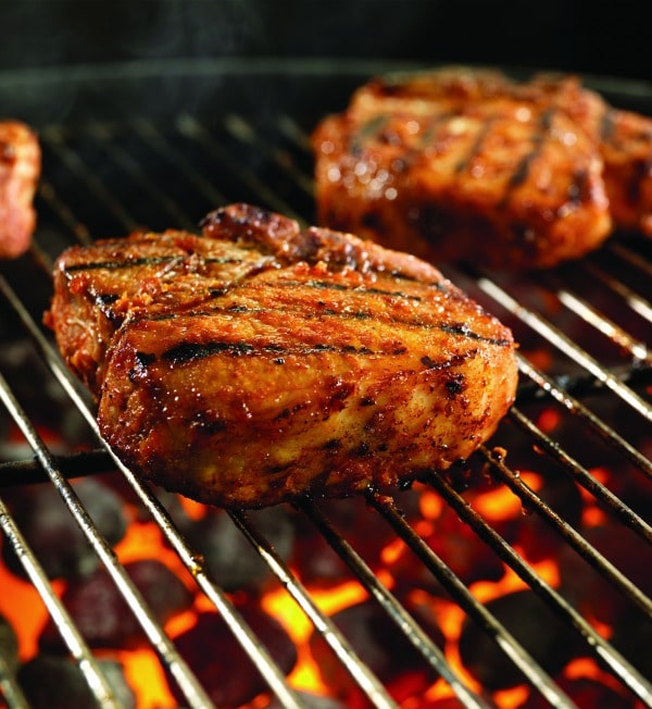 Sweet Soy Glazed Pork Chops with Pineapple Fried Rice - STL Cooks