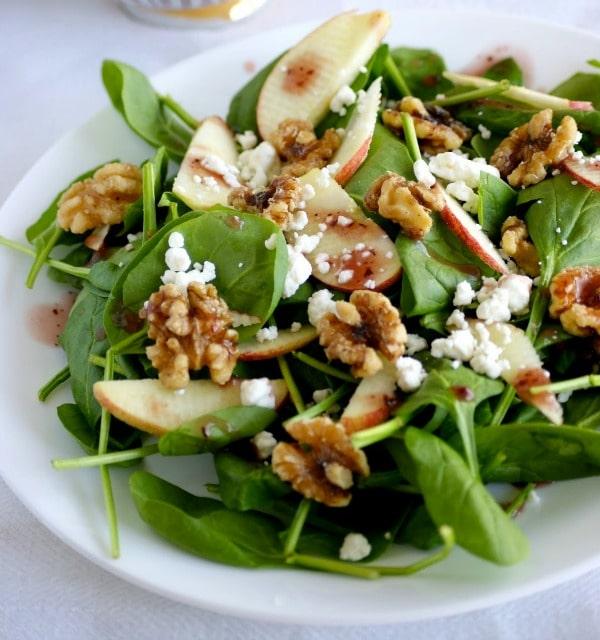 Spinachnutssalad