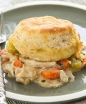 Chicken and Biscuit Bake Recipe – A vegetable and chicken dish perfect for your family dinner, it's just like a chicken pot pie, without the pie.