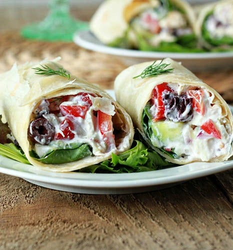 Greek Pita Wrap Greek Chicken Salad Wraps