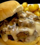 The Copycat Hardee's Mushroom and Swiss burger. Oh yeah! Perfect for when you have that craving, but do not want to leave the house.