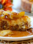 """Recipe for Caramel Apple-Brownie Cheesecake – This is a dessert that just screams """"It's fall, this is what you are wanting!""""."""