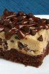 Combine a layer of fudgy brownie topped with chocolate chip cookie dough, and you get theseChocolate Chip Cookie Dough Brownies. The ultimate dessert that will have them all begging for more.