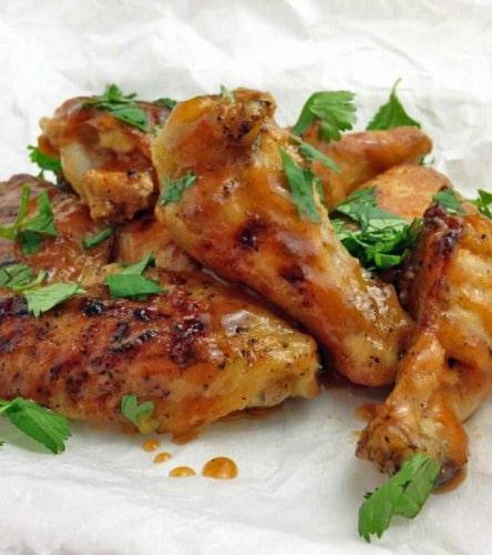 Recipe for Baked Honey Sriracha Chicken Wings
