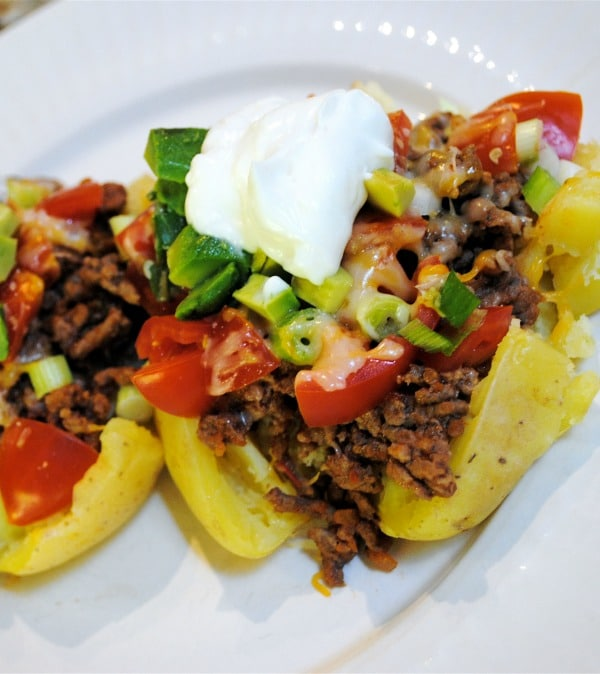 Stuffed Taco Potatoes Recipe — Dishmaps
