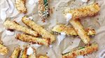 Crispy breading with a hint of lemon and fresh zucchini. TheseBaked Panko Zucchini Sticks are simply fantastic!