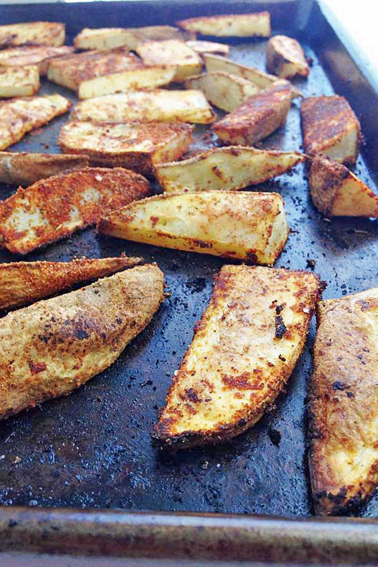 Crispy, Spicy, and Delicious. TheseCajun Potato Wedges are the perfect side for almost any dish.