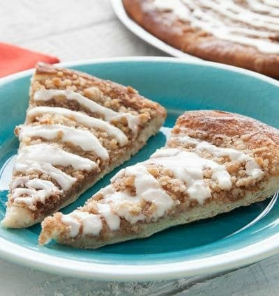 Recipe for Cinnamon Crumble Pizza