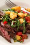 This Grilled Flank Steak with Peppery Peach Salsa recipe is all about getting lots of flavor, without a lot of work! You are sure to be making this one over and over again.