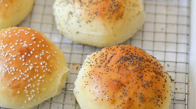 Light Brioche Buns - Light and fluffy yet sturdy enough for your most epic burger. This recipe yields the perfect homemade hamburger bun.