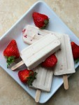 A creamy and decadent ice cream treat made with Jell-O pudding mix. These Strawberry Vanilla Bean Cheesecake Pudding Pops are quick and easy to throw together for a party or just to have on hand as a summertime treat!