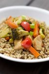 This Asian Chicken and Veggie Stir Fry makes for a quick and easy way to combine your favorite veggies into a nutritious dinner dish that the whole family will love.